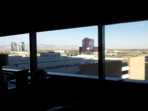 Window view of Las Vegas (day)